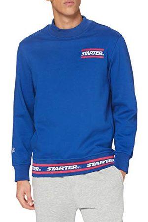 STARTER BLACK LABEL Heren sweater Wording Crewneck pullover met logo borduurwerk, turtleneck sweatshirt met branding, kleur , maten XS tot XXL