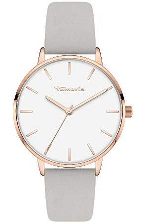Tamaris Dames analoog kwarts horloge met lederen armband TT-0005-LQ