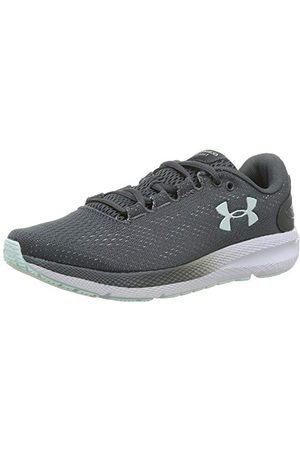 Under Armour Women's Charged Pursuit 2 Running Shoe, Pitch Gray White Seaglass Blue, 3.5 UK