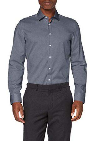 Seidensticker Zakelijk overhemd voor heren, strijkvrij, smal hemd, slim fit, lange mouwen, Kent-kraag, 100% katoen