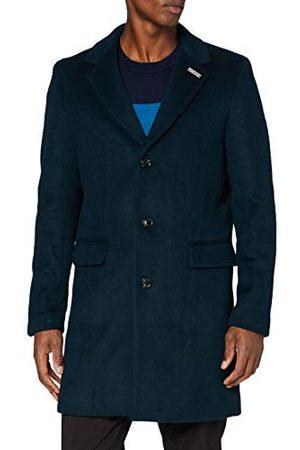 Scotch&Soda Klassieke mantel voor heren, met enkele rij rijen wolmix, Wool Blend Coat
