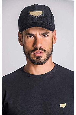 Gianni Kavanagh Black Velvet Cap met gouden GK Plaket Baseball Cap, zwart, UN voor heren