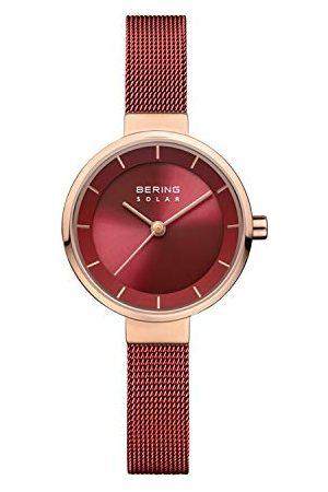 Bering Dames analoog zonne-horloge met roestvrij stalen armband 14627-363