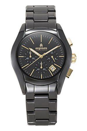 Argonau Unisex volwassen analoge klassieke quartz horloge met keramische band Au1302