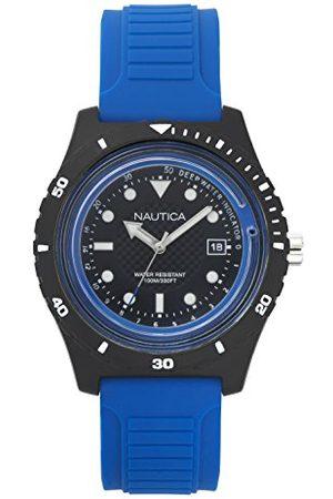 Nautica Heren datum klassiek kwarts horloge met siliconen armband NAPIBZ002