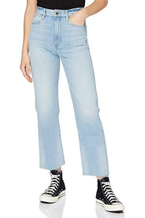 G-Star Tedie Ultra High Waist Ripped Ankle Straight Jeans