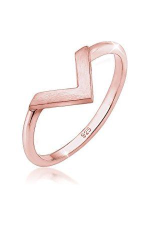 Elli Ringen Dames V Vorm Basic Trend in 925 Sterling Zilver