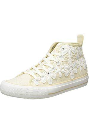 Desigual Dames SHOES BETA CROCHET Hoge sneakers, (Ecru 9020), 37 EU