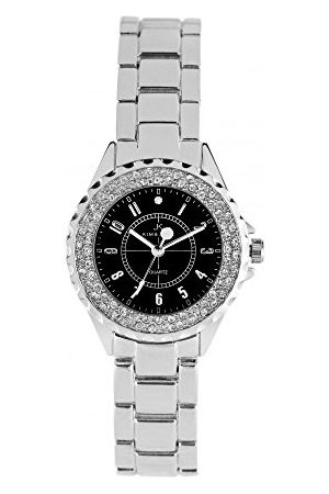 Kim & Jade Dames analoog kwarts horloge met roestvrij stalen armband 2033L-SB