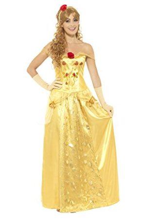 Smiffys 45969M dames gouden prinses kostuum, lange jurk, handschoenen en haarband, , maat: M, 45969