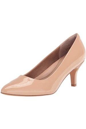 Amazon Ronde teen Medium Heel Pomp, Blush Patent, UK 6