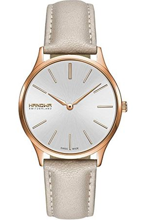 Swiss Military Hanowa Dames analoog kwarts horloge met lederen armband 16-6075.09.001.14