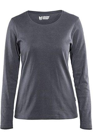 BLAKLADER Dames T-shirt met lange mouwen donker marineblauw, XXL