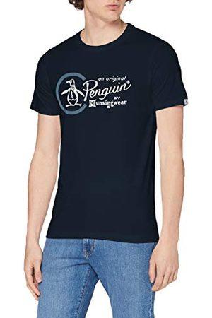 Original Penguin Heren Combo Logo T-Shirt, (Dark Saffier), Large (Maat: L)