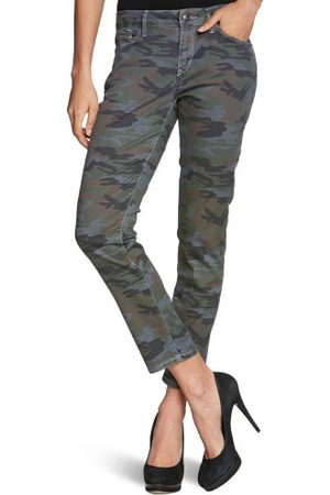 Esprit Dames jeans R80064 Skinny/Slim Fit (roe), camouflage normale tailleband