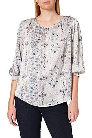 Herrlicher Prachtige dames Sun Printed satijnen blouse