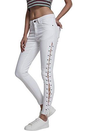 Urban classics Dames Dames Denim Lace Up Pants Skinny Jeans