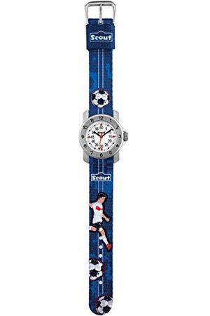 Scout Analoog kwartshorloge voor jongens, met stoffen armband 280376004