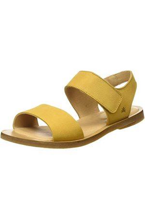 El Naturalista Nf30 Pleasant Curry/Tulip dames sandalen met open kant