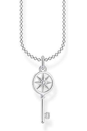 Thomas Sabo Dames halsketting sleutel met ster 925 sterling , 38-45 cm lengte