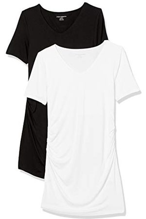 Amazon Zwangerschaps 2-pack korte mouw Rouched V-hals T-shirt, / , XL