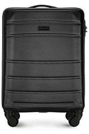 Wittchen Stevige kleine koffer van handbagage trolley reiskoffer ABS harde 4-wielig combinatieslot