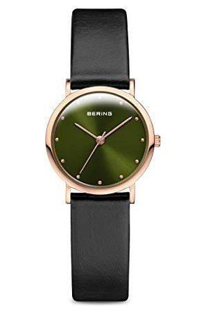 Bering Dames analoog kwarts horloge met lederen armband 13426-469