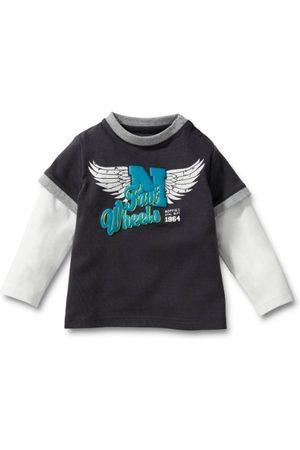 Noppies Kinderen shirt met lange mouwen baby Alata 25414 86 cm Grigio (Grau (Anthracite))