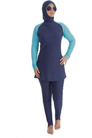 Beco Dames moslim badpak wetsuit watersport bovendeel met broek zwemkleding burkini