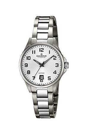 Candino Dames datum klassiek kwarts horloge met titanium armband C4608/1