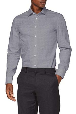 Seidensticker Zijdesticker heren slim lange mouwen Pepita klassiek overhemd