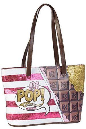 Oh My Pop! Oh My Pop. Tote Bag de 'Chocolat' strandtas van stof, 40 cm, meerkleurig