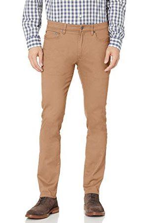Amazon Heren Skinny-fit 5-Pocket Stretch Twill Pant,Donkere Kaki,35W / 29L
