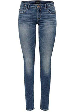 ONLY NOS Skinny Jeans voor dames,Blau (Dark Blue Denim Dark Blue Denim),36W x 32L (Fabrikant maat: 27)