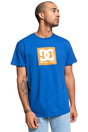 DC Square Star T-shirt voor heren, Nautical Blue/Orange Popsicle, FR: S (maat fabrikant: S)