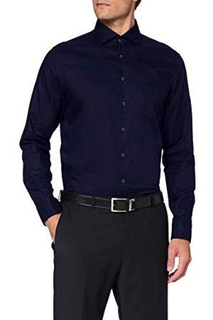 Seidensticker Zijdesticker heren Shaped lange mouwen Uni Twill klassiek overhemd