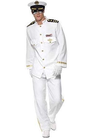 Smiffys Kapitän Deluxe kostuum met jasje, broek, muts en handschoenen, large