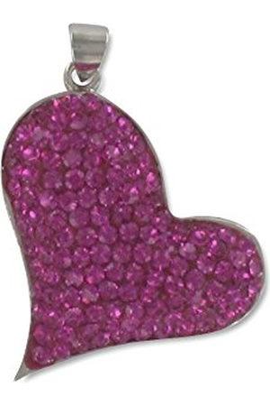Pasionista Dameshanger hart met roze kristallen 925 sterling zilver 608068