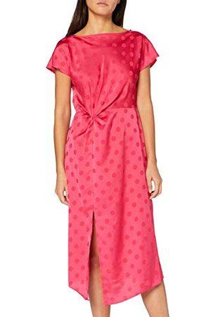 Dorothy Perkins Vrouwen Hot Pink Jaquard gemanipuleerde taille Midi jurk Casual
