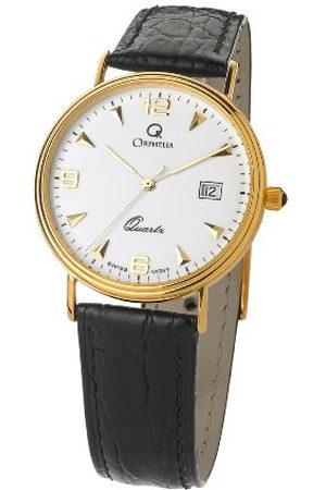 ORPHELIA Heren analoog kwarts horloge met lederen armband MON-701/01