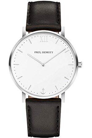 Paul Hewitt PH-SA-S-ST-W-2S Analoog kwartshorloge voor volwassenen, uniseks, met leren armband