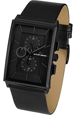 Jacques Lemans Heren chronograaf kwarts horloge met lederen armband 1-1818D