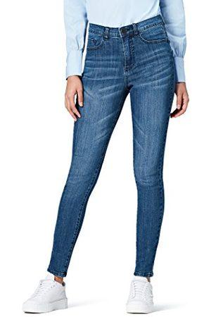 FIND Amazon-merk - vinden. Dames skinny hoge taille jeans, (midden wassen),32W / 32L