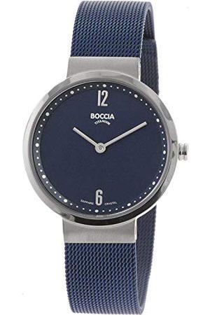 Boccia Womens analoog quartz horloge met roestvrij stalen band 3283-04