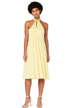 TRUTH & FABLE Amazon-merk - Multiway Midi-jurk voor dames, (lichtgeel), 12, Label:M