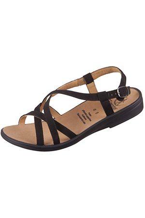 Ganter Gele Sonnica-E, sandaal met drukknoop, dames