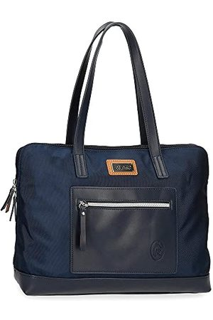 El Potro Chic aanpasbare laptoptas 15,6 inch blauw 38 cm polyester