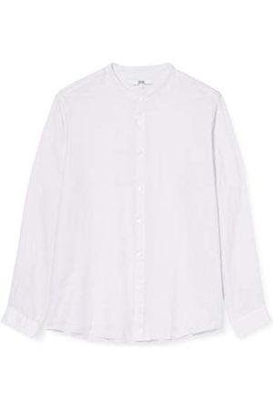 FIND Amazon-merk - vinden. Herenlinnen Grandad kraag met lange mouwen Regular Fit Shirt, (Lilac),XXS