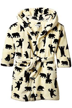 Hatley Jongens Kids Fleece zwarte beren op natuurlijke gewaad - ivoor - M