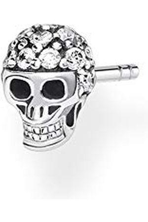 Thomas Sabo Dames enkele oorstekers doodskop zilver, 925 sterling zilver